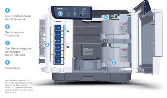 Epson Disc Producer Open